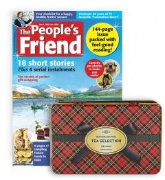The People's Friend Subscription (Tartan Tea Selection Tin)
