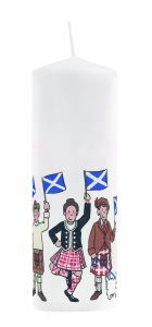 Saltire Candle