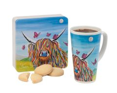 Dean's Steven Brown Art Shortbread & Latte Mug Gift Set