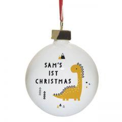 Dinosaur 1st Christmas Bauble