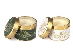 Mystical: Holly & Ivy and Mistletoe & Wine Pack of 2 Candles
