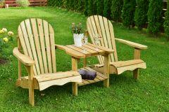 Evlo Double Adirondack Garden Bench