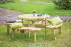Evlo Round Picnic Table
