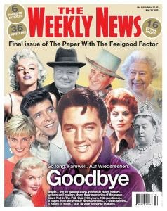 The Last Issue Of The Weekly News