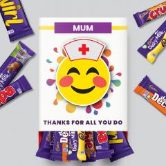Thanks For All You Do Nurse Emoji Mixed Chocolate Bar Box