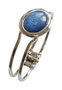 Blue Marble Resin Bracelet