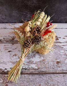 Festive Natural Grab and Go Bouquet