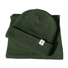 Fidir Green Beanie Hat and Scarf Set