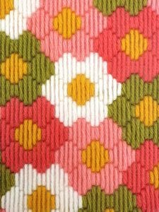 Bargello Tapestry Kit - Flower Power Wall Hanging Kit