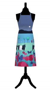 Flutterbies and Belties Cotton Apron by Ailsa Black