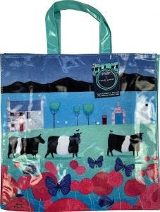 Butterflies and Belties Shopping Bag by Ailsa Black