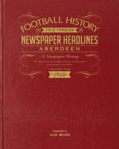 A3 Football Newspaper Book - Aberdeen