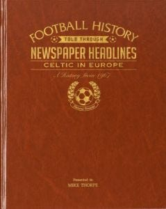 Personalised Football Newspaper Book - Celtic in Europe