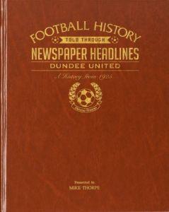 Personalised Football Newspaper Book - Dundee United