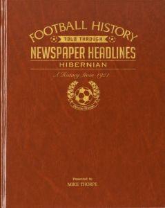 Personalised Football Newspaper Book - Hibernian