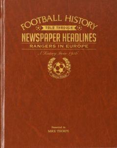 Personalised Football Newspaper Book - Rangers in Europe