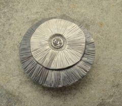 Grey Shell Magnetic Brooch