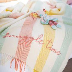 Hand Embroidered Nursery Throw