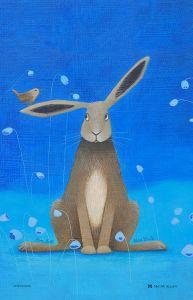 Hare Bells Hare Cotton Tea Towel  by Ailsa Black