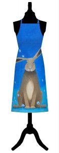 Hare Bells Cotton Apron by Ailsa Black