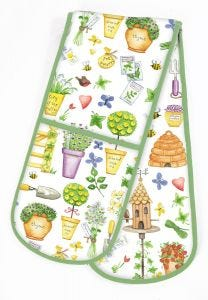 Herb Garden Double Oven Glove