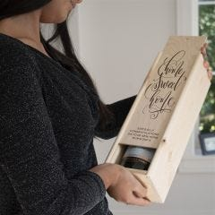 Personalised Home Sweet Home Wine Box