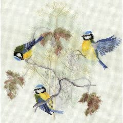 Blue Tits Counted Cross-Stitch Picture Kit