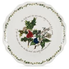 The Holly and The Ivy Scalloped Platter