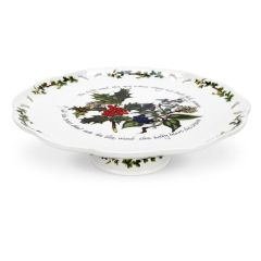 The Holly & The  Ivy Pierced Footed Cake Plate
