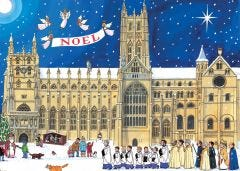 Christmas At The Cathedral Jigsaw Puzzle