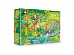 Usborne Book and Jigsaw : In The Jungle – 100 Piece Puzzle and Puzzle Book