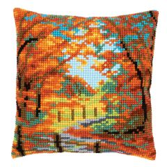 Cross Stitch Cushion Kit: Autumn Landscape