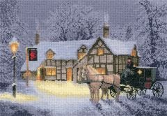 Christmas Inn Counted - Cross-Stitch Kit