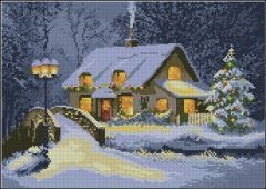 Christmas Cottage Counted Cross-Stitch Kit