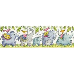 Counted Cross Stitch Kit: Karen Carter Elephants on Parade