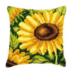 Cross Stitch Cushion Kit: Sunflowers