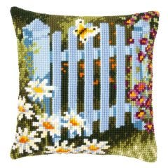 Cross Stitch Cushion Kit: Garden Gate