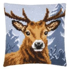 Cross Stitch Cushion Kit: The Stag's Head