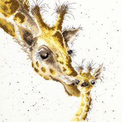 Bothy Threads Wrendale Counted Cross Stitch First Kiss Giraffe