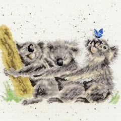 Bothy Threads Wrendale Counted Cross Stitch Three of a Kind Koalas