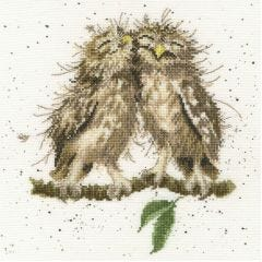 Bothy Threads Wrendale Counted Cross Stitch Birds of a Feather Owls
