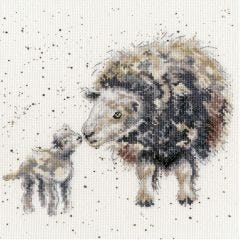Bothy Threads Wrendale Counted Cross Stitch Ewe and me Sheep