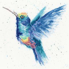 Bothy Threads Wrendale Counted Cross Stitch Rainbow Hummingbird