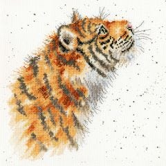 Bothy Threads Wrendale Counted Cross Stitch Moongazer Tiger