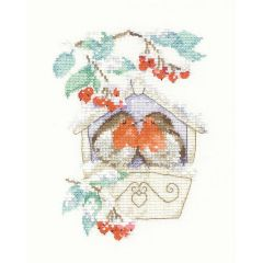 Counted Cross Stitch Kit Sue Hill Robin Hideaway