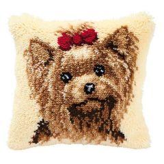 Latch Hook Cushion Kit Yorkie