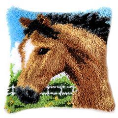 Latch Hook Cushion Kit Bay Pony
