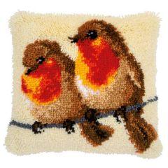 Latch Hook Cushion Kit 2 Robins on a Branch