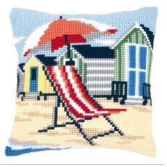 Cross Stitch Cushion Kit Deck Chair