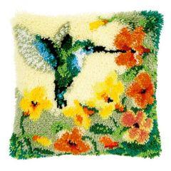 Latch Hook Cushion Kit Hummingbird